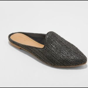 Women's Black Slide-On Shoes